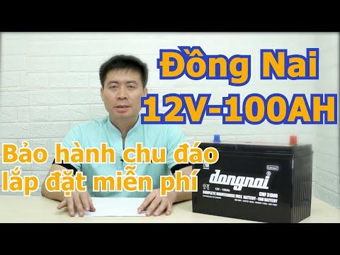 Ắc quy Đồng Nai 12v 100ah, Ắc quy miễn bảo dưỡng 31800 (ắc quy khô)
