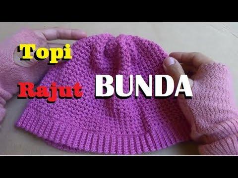 Crochet || Tutorial Membuat Topi Rajut Bunda
