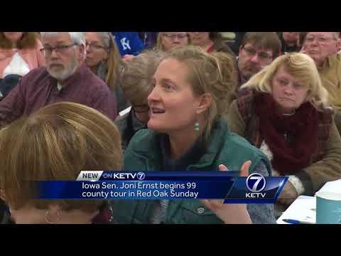 Iowa Sen. Joni Ernst begins 99-county tour in Red Oak