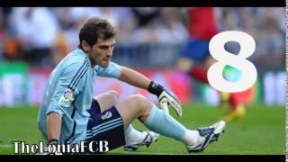 Iker casillas top 15 atajadas 2002-2014