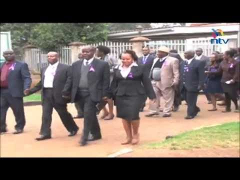 Nyeri lawyers stage demos and demand speedy probe