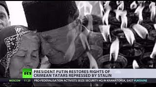 Putin restores rights of Crimean Tatars repressed by Stalin