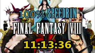 Final Fantasy VIII : 100% Speedrun in 11:13:36 (WR)