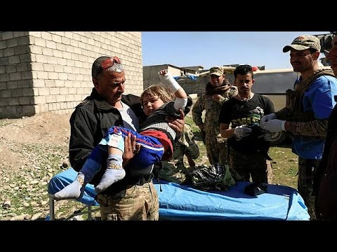 Iraqi forces push deeper into western Mosul as civilians flee