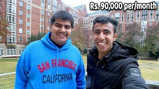 How Rich Indians Live in USA! AMERICAN HOSTEL TOUR: ₹90,000 per month