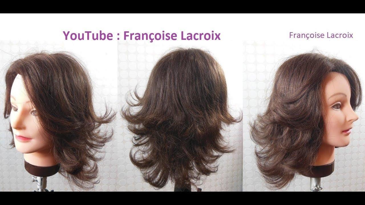 Coupe de cheveux femme dégradée | Medium length haircut with layers | Corte de pelo en capas ...