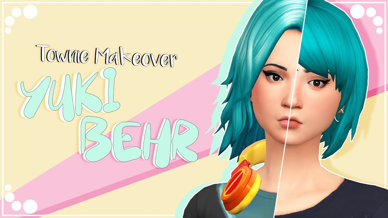 YUKI BEHR | The Sims 4 | Townie Makeover + CC list & sim download