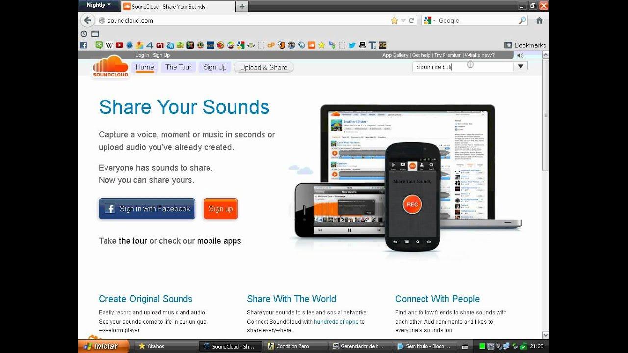 Tutorial de como baixar músicas pelo Soundcloud - YouTube