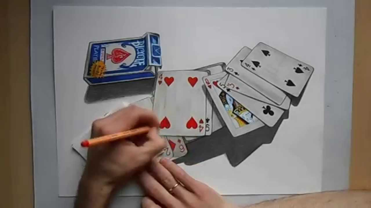How To Draw Playing Card Poker Speed Painting By Damian Riestra