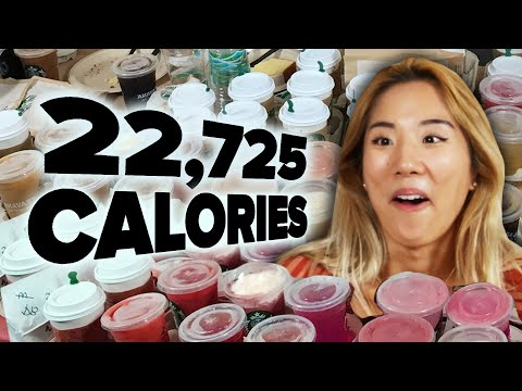 We Ordered The Entire Starbucks Menu (22,725 Calories)