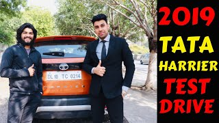 2019 TATA HARRIER TEST DRIVE | FIRST IMPRESSION | BREAK TEST | Rahul Singh