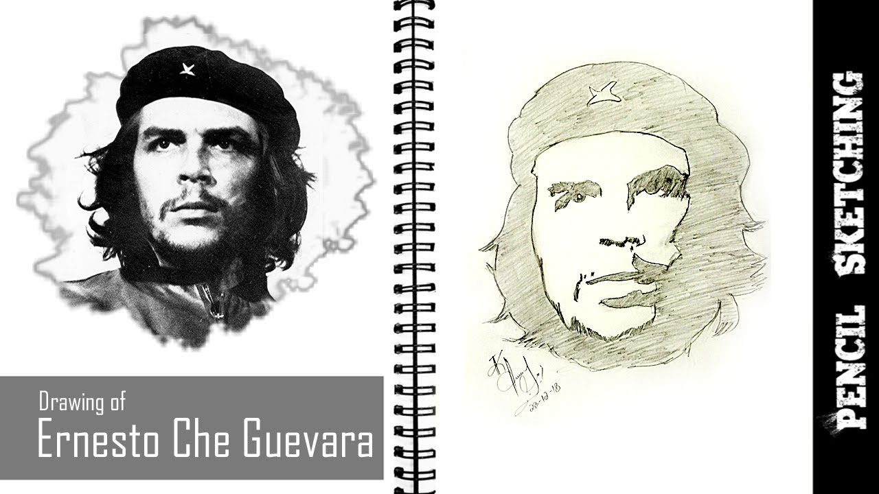 Ernesto che guevara pencil sketching