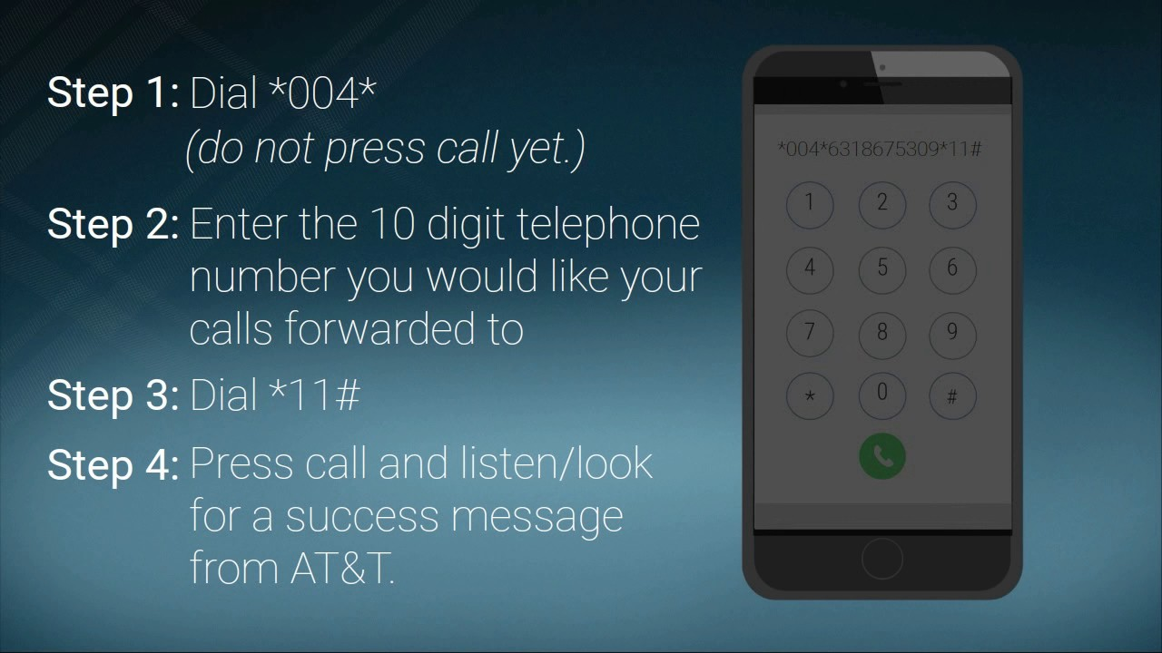 How To Setup Conditional Call Forwarding AT&T Cell Phone