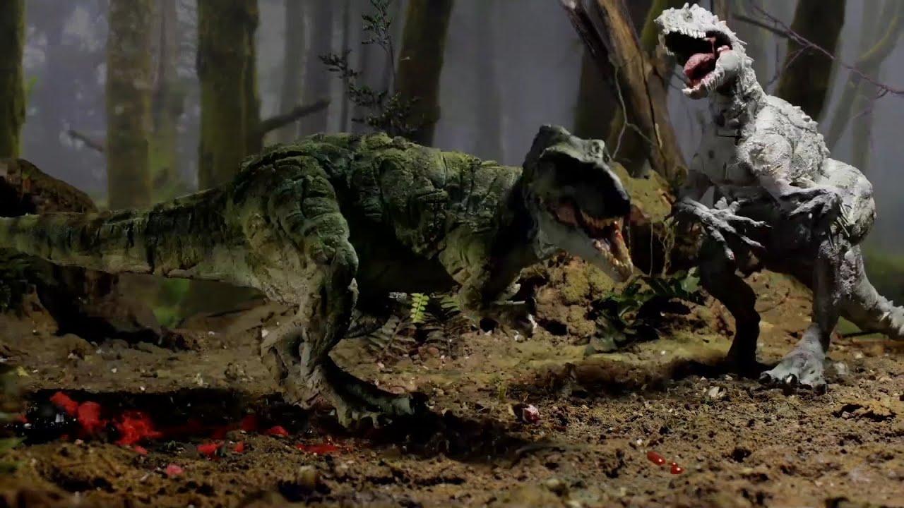 T Rex Vs Indominus Rex Youtube