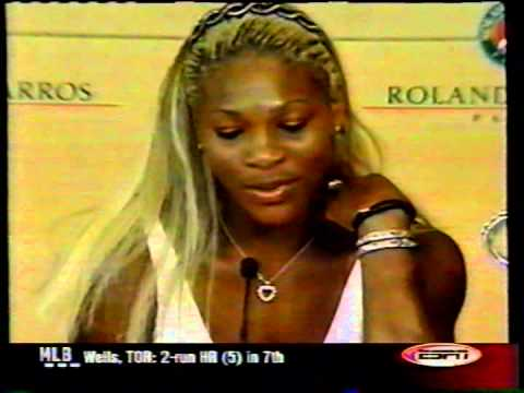 Serena Williams 2002 French Open interview (final)