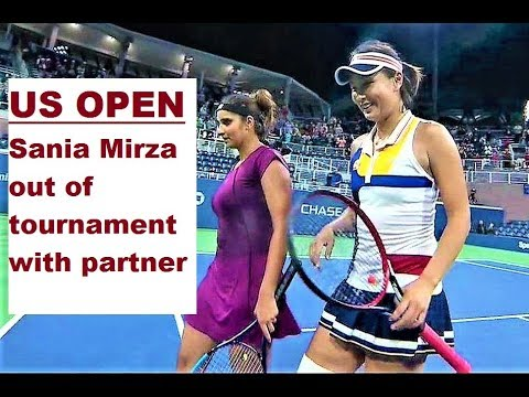 us open : Sania Mirza out of tournament with partner
