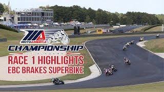EBC Brakes Superbike Race 1 Highlights at The MotoAmerica Championship of Alabama
