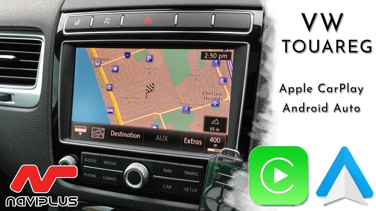 VW Touareg - RNS 850 CarPlay & Android Auto - after installation demo video
