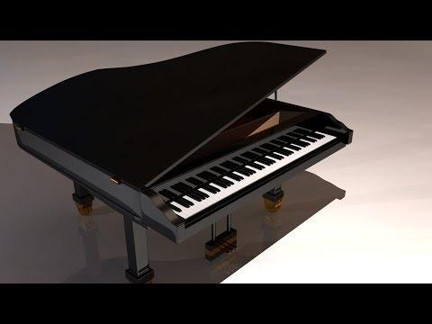 Maya tutorial : How to model a Grand Piano