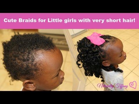 Cute Braids For Little Girls Very Short Fine Hair Youtube