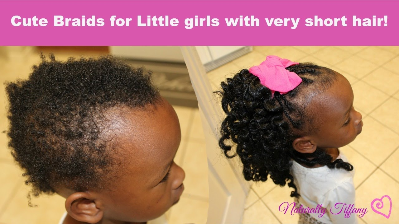 Cute Braids For Little Girls Very Short Fine Hair Youtube