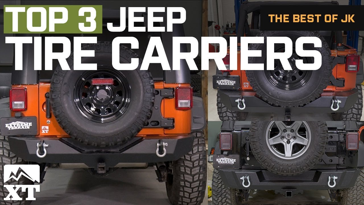 the 3 best jeep wrangler tub mounted tire carriers for 2007 2017 jk [ 1280 x 720 Pixel ]