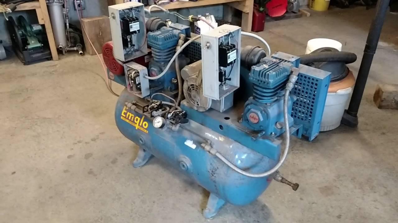 Emglo Dual Pump Air Compressor First Run