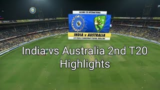 Australia vs India 2nd T20 Highlights || Australia tour of India 2019