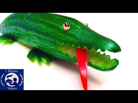 comment-faire-un-crocodile-en-concombre-/-diy,-facile,-présenter,-réaliser