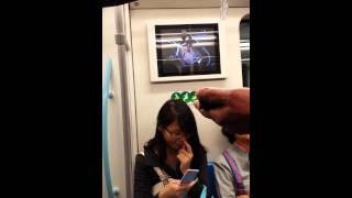 Cute Girl in China Picking Nose for 10 Mintues then Flicking