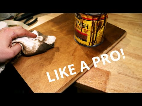 How To Stain Wood LIKE A PRO! Pine Wood Staining Tips And Tricks