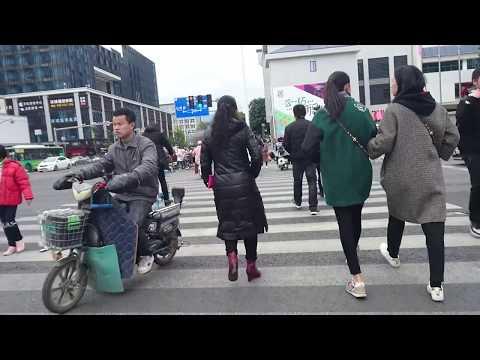 Busy street in Fuzhou