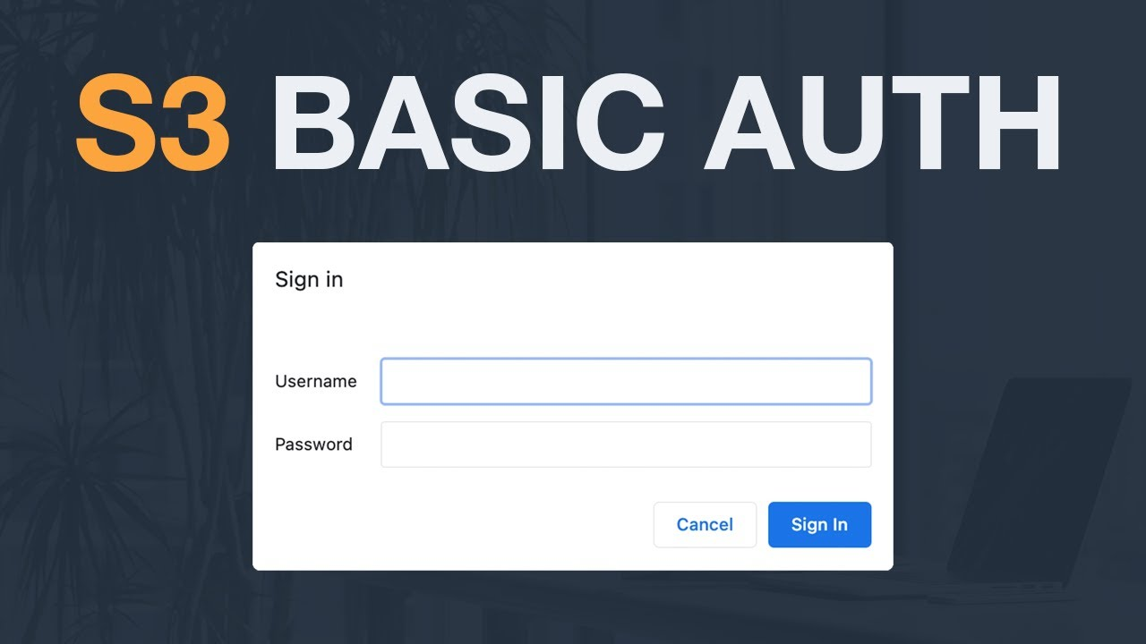 How to restrict access to a static S3 site using HTTP Basic Auth?