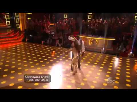 Keyshawn Johnson and Sharna Burgess   Cha Cha Cha   Dancing with the Stars   Season 17   Week 1