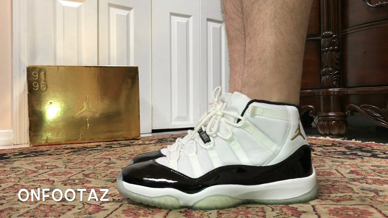 de5e96dce790 Air Jordan 11 XI DMP Defining Moments Pack On Foot - YouTube