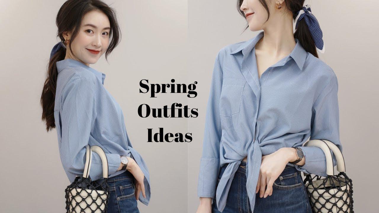 [VIDEO] - 【春季穿搭】轻法式优雅穿搭 Spring Outfits Ideas 1