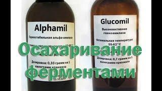 Осахаривание злаков с помощью ферментов Альфа амилаза и Глюко амилаза
