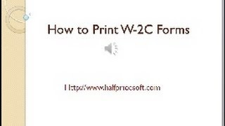 How to Print W-2C Forms