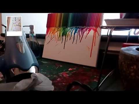 DIY Crayon Art Painting