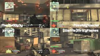 4 WAY SPLIT SCREEN PART 1: HIGHRISE(MW2)