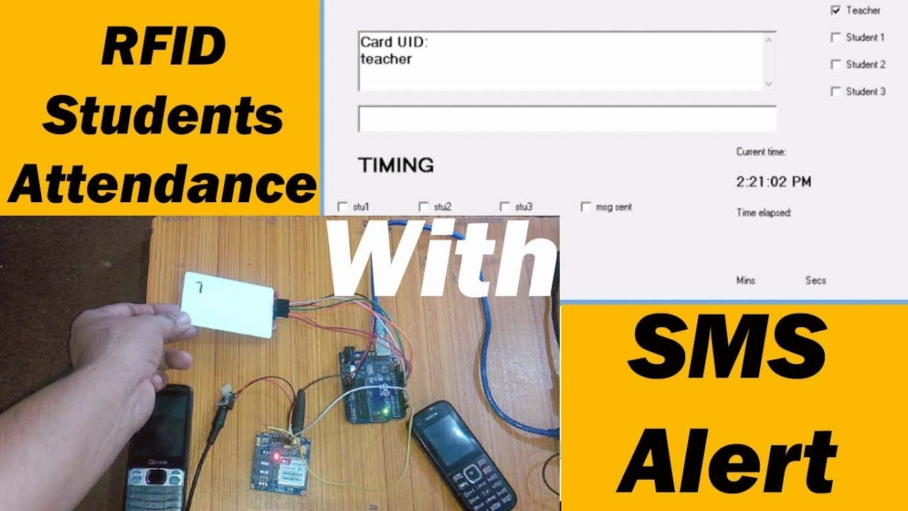 RFID based students attendance system with message Alert