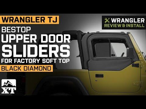 Jeep Wrangler TJ Bestop Upper Door Sliders for Factory Soft Top - Black Diamond Review & Install