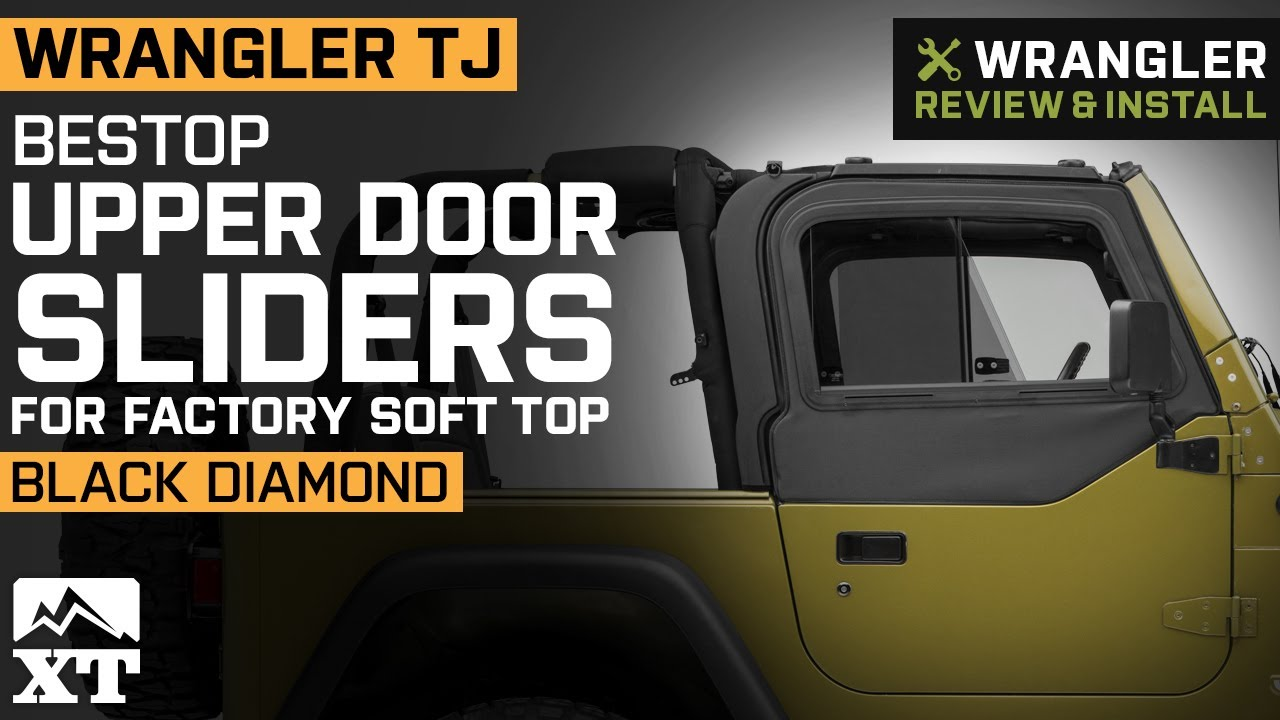 Jeep Wrangler Tj Bestop Upper Door Sliders For Factory Soft Top