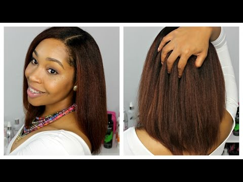 Natural Hair | How to Straighten Natural Hair with The Mane Choice