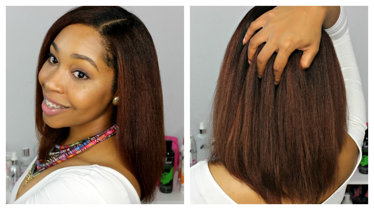 Natural Hair How To Straighten Natural Hair With The