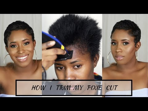 How I Cut, Relax & Style My Short Hair At Home