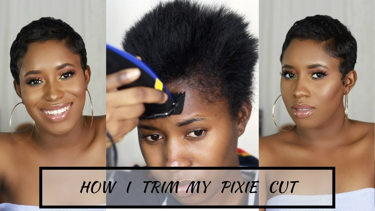 How I Cut Relax Style My Short Hair At Home Pixie Cut Youtube