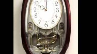 Qxm261brh Seiko Melodies In Motion Trumpet & Pendulum Clock