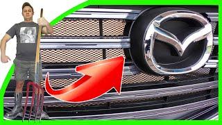 Установка СЕТКИ в БАМПЕР и РЕШЕТКУ РАДИАТОРА Mazda CX-5 часть-2