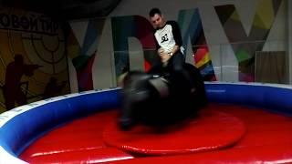 Я на искусственном быке в маза-парке. :)